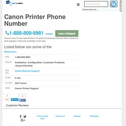 Canon Printer Phone Number