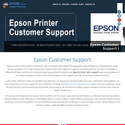 Epson Printer Customer Service Phone Number 1-800-436-0509
