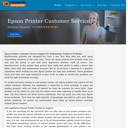 Epson Printer Customer Care and Service Toll Free Number