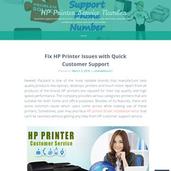 Fix HP Printer Issues with Quick Customer Support