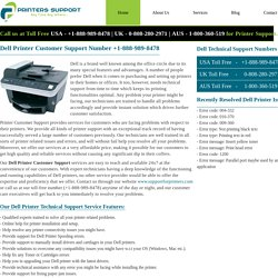 Dell Printer Customer Support Number +1-888-989-8478