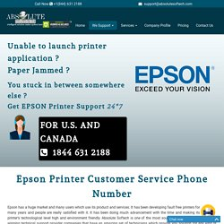 Epson Printer Customer Support Number