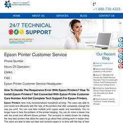 Epson Printer 1-888-738-4333 Customer Support Service Number