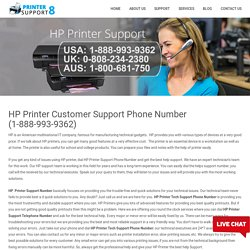 HP Printer Customer Support Phone Number (1-888-993-9362)