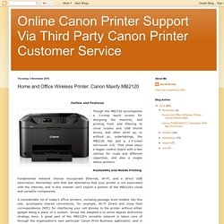 Home and Office Wireless Printer: Canon Maxify MB2120