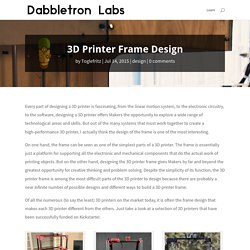 3D Printer Frame Design