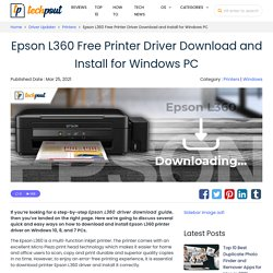 Epson L360 Printer Driver Download and Install for Windows PC