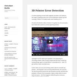 3D Printer Error Detection – Chris Barr Builds