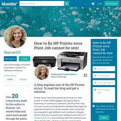 How to fix HP Printer error Print Job cannot be sent