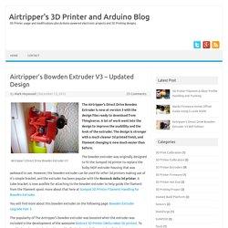 3D printer Bowden Extruder V3 for Sumpod & Rostock Delta