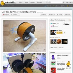 DIY PVC Filament Spool Stand