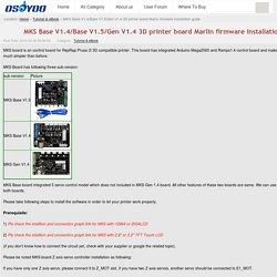 MKS Base V1.4/Base V1.5/Gen V1.4 3D printer board Marlin firmware installation guide