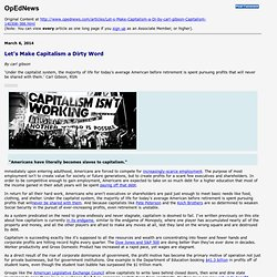 Printing: Let's Make Capitalism a Dirty Word