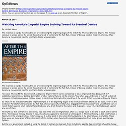 Printing: Watching America's Imperial Empire Evolving Toward its Eventual Demise