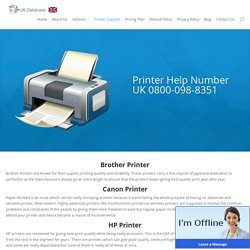 Printer Help Number UK 0800-098-8351 Printer Support Number UK