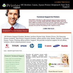 800 760 5113-Printer Helpline® for HP, Brother, Canon, Epson