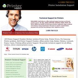 Printer Installation Support