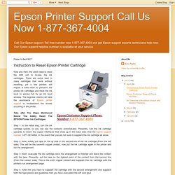 Instruction to Reset Epson Printer Cartridge