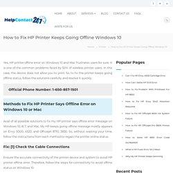 Fix HP Printer Keeps Going Offline Windows 10