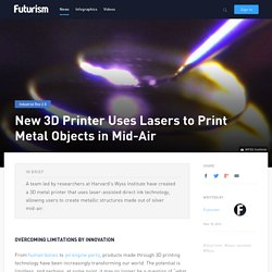 New 3D Printer Uses Lasers to Print Metal Objects in Mid-Air