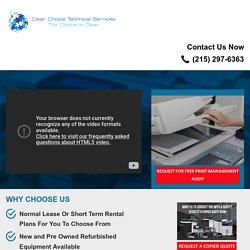 Printer Leasing - Copier Lease Philadelphia PA