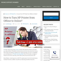 HP Printer is Offline How to Get Online- Solved Here