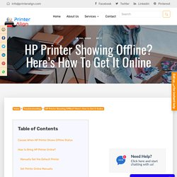 How to Get HP Printer Online from Offline?