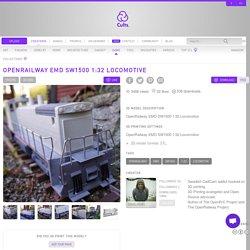 Free 3D printer model OpenRailway EMD SW1500 1:32 Locomotive