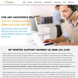HP Printer Phone Number UK 0808-101-2159 HP Printer Contact Number UK