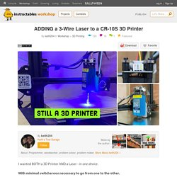 ADDING a 3-Wire Laser to a CR-10S 3D Printer : 18 Steps (with Pictures) - Instructables