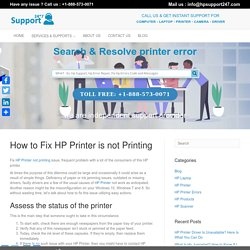 How To Fix HP Printer Not Printing Issue