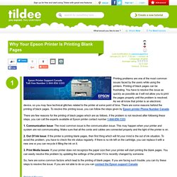 Why Your Epson Printer Is Printing Blank Pages on Tildee