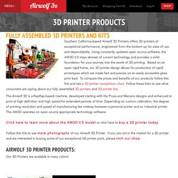 3d Printer Products - Airwolf 3D Printers