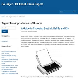 printer ink refill stores