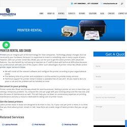 Printer Rental Abu Dhabi
