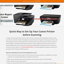 How to Setup Your Canon Printer before Scanning?