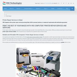 Printer Repair Services in Dubai - Fix Printer - Laser Printer Repair
