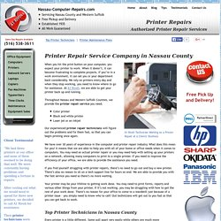Printer Repairs Repair Service Company in Nassau County NY