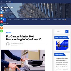 How to fix Canon Printer Not Responding in Windows 10