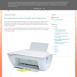 Fix loaded queue problem in simple steps of Hp printer