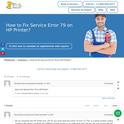 How to Fix Service Error 79 on HP Printer?