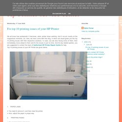 Fix top 10 printing issues of your HP Printer