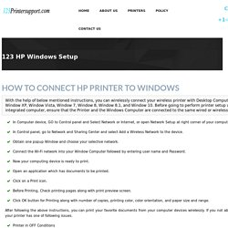 123 HP Printer Setup & Install for windows