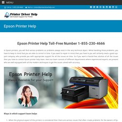 Epson Printer Help For Expert Solution of Any Printer Problem