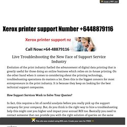 Xerox Printer Support NZ Number +64-48879116