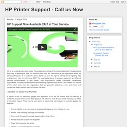 HP Support Now Available 24x7 at Your Service