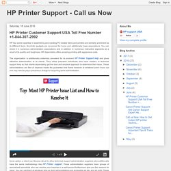 HP Printer Customer Support USA Toll Free Number +1-844-307-2992
