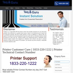 Printer Support Customer Care 1-844-745-1521 Service Number Help
