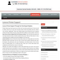 Lenovo Printer Support @ +1888- 411-1123 Customer Service